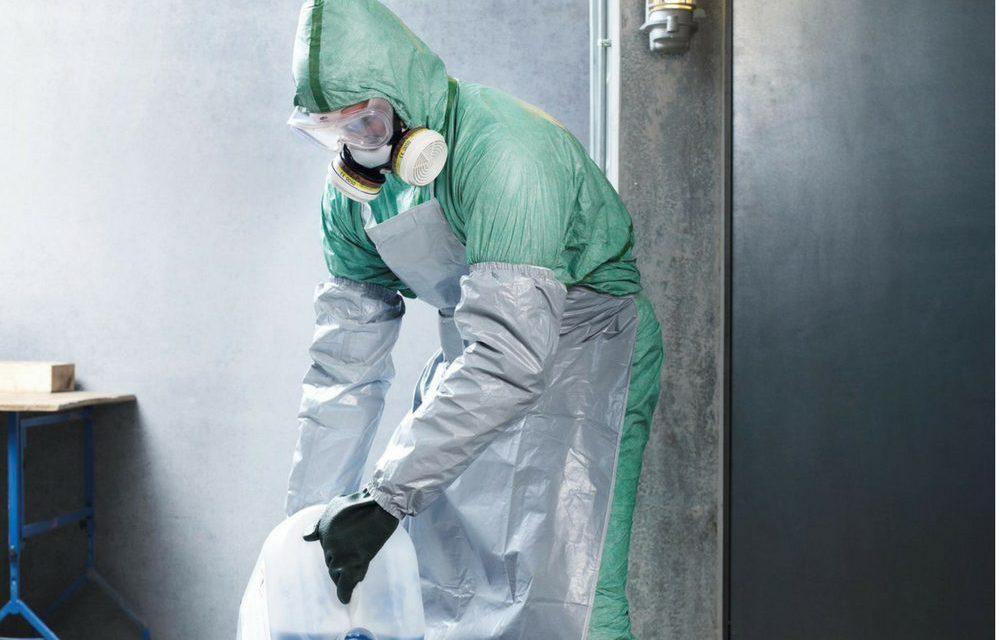 Protección respiratoria al trabajar con productos químicos