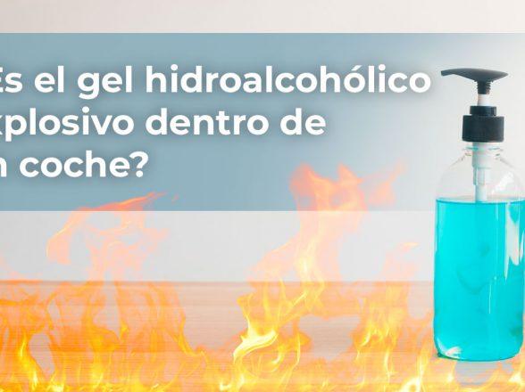 Gel hidroalcohólico explosivo