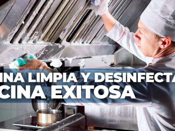Cocina limpia y desinfectada, cocina exitosa